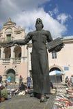 Monumento à primeira impressora Ivan Fyodorov em Lviv, Ucrânia Fotos de Stock