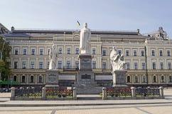 Monumento à princesa Olga, apóstolo Andrew, Cyril e Methodius Imagem de Stock