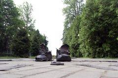 Monumento às botas imagens de stock
