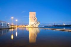 Monumento às descobertas Lisboa Fotografia de Stock