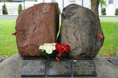 Monumento às soldas do canadense e do polonês foto de stock royalty free