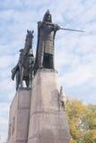 Monumento του δούκα της Λιθουανίας στοκ εικόνες