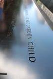 Monumento 9/11 Imágenes de archivo libres de regalías