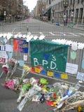 Monumento 2013 - abajo opinión del maratón de Boston de la calle de Boylston Fotografía de archivo