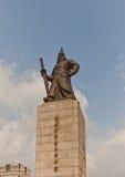 Monumento ad ammiraglio Yi Sun-Shin a Seoul, Corea Fotografia Stock Libera da Diritti