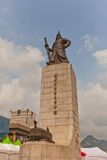 Monumento ad ammiraglio Yi Sun-Shin a Seoul, Corea Fotografia Stock