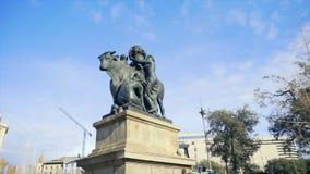Monumento ad una mucca in Europa azione Monumento ad agricoltura in Europa Immagine Stock Libera da Diritti