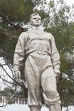 Monumento ad Yuri Gagarin sul viale pionieristico nella città di Anapa fotografia stock libera da diritti