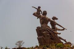 Monumento africano del renacimiento Fotos de archivo libres de regalías