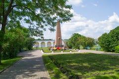 Monumento agli eroi alla corte di Yaroslav Fotografia Stock