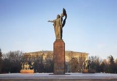 Monumento ai combattenti della rivoluzione a Biškek kyrgyzstan Immagini Stock Libere da Diritti
