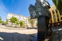 Monumento ai combattenti per la rivoluzione in samara, Russia fotografia stock