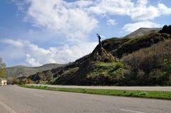 Monumento Akhtamar perto do lago Sevan, Armênia Foto de Stock Royalty Free