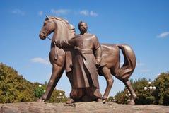 Monumento al caballo cosaco ucraniano Fotografía de archivo libre de regalías