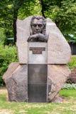 Monumento al campione Mikhail Tal di scacchi del mondo La Lettonia, Riga Fotografia Stock Libera da Diritti