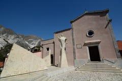 Monumento al cavapietre Colonnata Alpi di Apuan tuscany L'Italia Immagini Stock