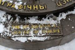 Monumento al centro geografico di Europa Immagine Stock Libera da Diritti