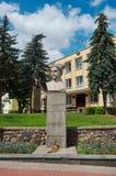 Monumento al comandante Chapayev del ejército rojo Fotografía de archivo