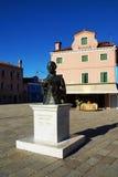 Monumento al compositor Baldassare Galuppi, isla de Burano, Veni Fotografía de archivo libre de regalías