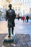 Monumento al compositore Sergei Prokofiev a Mosca fotografia stock