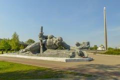Monumento al coraggioso, fortezza di Brest, Belarus di guerra Fotografie Stock