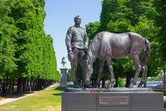 Monumento al corpo spedizione russo a Parigi Fotografia Stock