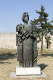 Monumento al déspota Stefan Lazarevich en la fortaleza de Belgrado, Serbia Foto de archivo