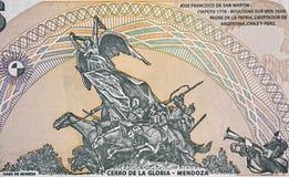 Monumento al ejército de los Andes, Cerro de la Gloria en Argenti Imagenes de archivo