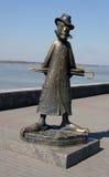 Monumento al escritor Anton Chekhov Imagen de archivo libre de regalías
