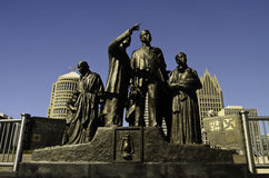 Monumento al ferrocarril subterráneo Imagen de archivo