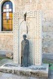 Monumento al genocidio armeno nel territorio della chiesa armena in Bourgas, Bulgaria fotografia stock libera da diritti