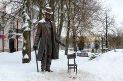 Monumento al gigante Fedor Makhnov di Vitebsk 1878-1912, uomo più alto dell'altezza del mondo 285 centimetri, Vitebsk, Bielorussi immagini stock
