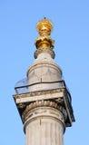 Monumento al gran fuego de Londres, Inglaterra, Reino Unido Fotos de archivo libres de regalías