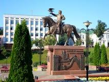 Monumento al gran príncipe de Lituania Olgerd Foto de archivo libre de regalías