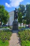 Monumento al grande compositore russo Tchaikovsky nella città di Klin Immagine Stock