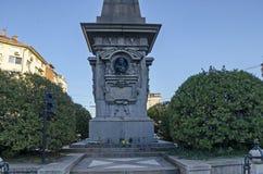 Monumento al héroe nacional búlgaro Vasil Levski en la ciudad de Sofía Fotos de archivo