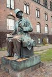 Monumento al H.C. Andersen a Copenhaghen Fotografia Stock Libera da Diritti