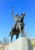 Monumento al Hetman en Kiev, Ucrania, Imagen de archivo