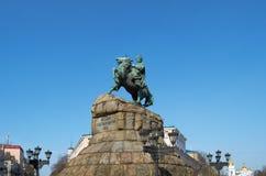 Monumento al Hetman ucraniano famoso Bogdan Khmelnitsky Fotografía de archivo libre de regalías