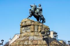 Monumento al Hetman ucraniano famoso Bogdan Khmelnitsky Foto de archivo libre de regalías