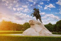 Monumento al jinete de bronce en St Petersburg Fotos de archivo libres de regalías