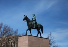 Monumento al maresciallo della Finlandia, Baron Mannerheim a Helsinki Immagine Stock