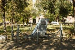 Monumento al piloto-instructor Davydchenko I I stalingrad imagen de archivo libre de regalías