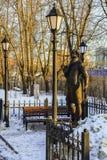 Monumento al poeta ed allo scrittore russi Andrey Bely in Kuchino, regione di Mosca Fotografia Stock Libera da Diritti