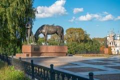 Monumento al poeta K n Batushkov Foto de archivo