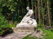 Monumento al poeta ucraino Taras Shevchenko Fotografie Stock