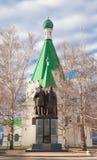 Monumento al prelado Suzdal de príncipe George Vsevolodovich y de Simon Fotografía de archivo libre de regalías