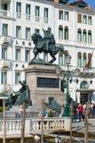 Monumento al primer en una tarde soleada, Venecia de rey Victor Emmanuel II Imagen de archivo libre de regalías