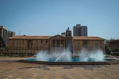 Monumento al primo presidente Jomo Kenyatta del Kenya a Nairobi fotografia stock