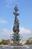 Monumento al re Peter il grande, Mosca Fotografia Stock